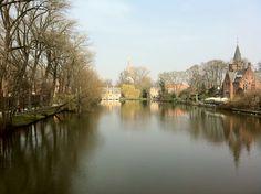 The Minnewater park, Brugge(Bruges), Belgium