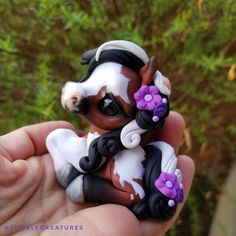 This cutie is now up for adoption through random draw on my Facebook page! Go take a peek if you'd like to give her a home! #tumblecreatures #pony #horse #horseart #collectible #figurine #sculpture #polymerclay #artist #modelhorseart #modelhorsecollector #horseaddict #horsegirl #horserider #beautifulhorse #equestrian #baypainthorse #tricolor #baypinto #pinto #painthorse #ilovehorses #instahorse #mylittlepony #handmade Pony Horse, Horse Girl, Polymer Clay Sculptures, Sculpture Clay, Beautiful Horses, Clay Crafts, Clay Art, My Little Pony, Adoption