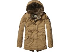 Scotch R'belle canvas parka with detachable inner jacket | www.eb-vloed.nl