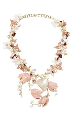 Jewelry Design - Single-Strand Necklace with Kato Polyclay™, White Lotus™ Cultured Freshwater Pearls, Shells and Wirework - Fire Mountain Gems and Beads Sea Jewelry, Chunky Jewelry, Jewelry Crafts, Jewelry Art, Beaded Jewelry, Handmade Jewelry, Jewelry Design, Jewelry Ideas, Beading Tools