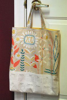 Calendar Towel recycled into a bag