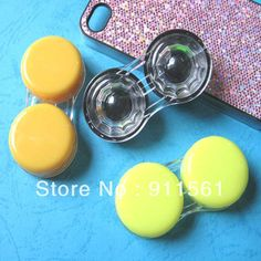 Free Shipping // 30pcs/Lot Hot and Kawaii Simpleness Style Contact Lenses Case & Box / Lens Companion box No02-in Accessories from Apparel &...