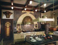 Art Nouveau Style House Villa Liberty near Moscow, Russia - Beautiful Kitchen