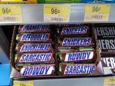 Snarky @Snickers packaging. Love it! #WGBD Jansport Backpack, The Fosters, Packaging, Wrapping