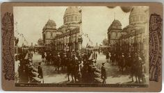 Stereograph - Royal Party Leaving Exhibition Building After Opening of Federal Parliament, 1901 Exhibition Building, Royal Party, Back In Time, Melbourne Australia, Celebrations, Past, Victoria, History, Federal