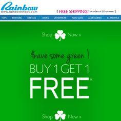 Deal Alert (US): Rainbow Shops BOGO Free on Clearance! Happy Shopping! #deal #alert #us #rainbowshops #bogo #free #clearance #shopping #budget #fashion #clothes