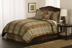 Best Quality Luciano Queen Comforter Set with Bonus Pillows By Pem America by By Pem America. $81.00. Imported.. Bedding by Pem America is not just a standard bedding, it is a bedding that any one in your family is guaranteed to enjoy!! Includes 1 queen comforter 86x86 inches with two standard shams (20x26 inches), bed skirt to fit mattress 60x80 inches. 3 BONUS PILLOWS included to add that final touch to your bed. Jacquard woven polyester and cotton face cloth with 100% hypoall...