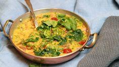 Foto: Tone Rieber-Mohn / NRK Raw Food Recipes, Vegetarian Recipes, Man Food, Scampi, Indian Dishes, Garam Masala, Guacamole, Stew, Tapas