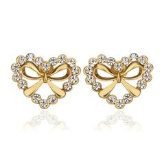 >> Click to Buy << New Wholesale Jewelry 6 Style Yellow Gold Color Stud Earrings Zircon Stud Earrings Wedding Party Gift For Women #Affiliate