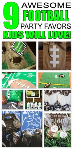 Great football party favors kids will love. Fun and cool football birthday party favor ideas for children. Easy goody bags, treat bags, gifts and more for boys and girls. Get the best football birthday party favors any child would love to take home. Loot bags, loot boxes, goodie bags, candy and more for football party celebrations.