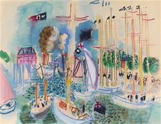 Les Régates à Deauville (The Regatta at Deauville) by Raoul Dufy