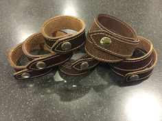 Horween Leather wrap braclets from 922Leather.com