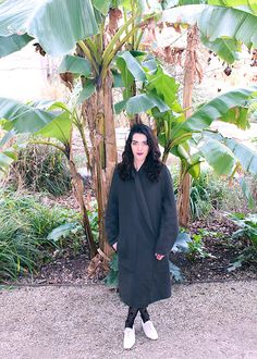 Get this look: http://lb.nu/look/8550483  More looks by Maeva: http://lb.nu/trendmae  Items in this look:  Uniqlo Oversized Coat, Dresslink Tights, André Shoes   #artistic #casual #minimal #green #greenery #minimalism #minimalist #monochrome #nature