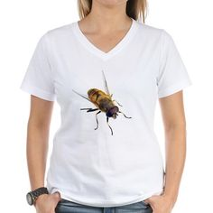 872d166860a690 Bee Isolated Women s V-Neck T-Shirt by Bigstock - CafePress