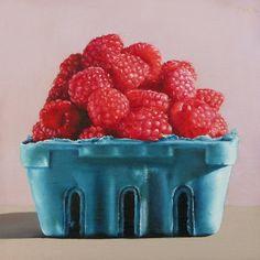 Raspberries, painting by artist Oriana Kacicek