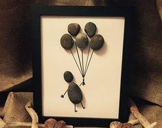 Handmade Pebble Art Balloons by MeganMakesDesigns on Etsy