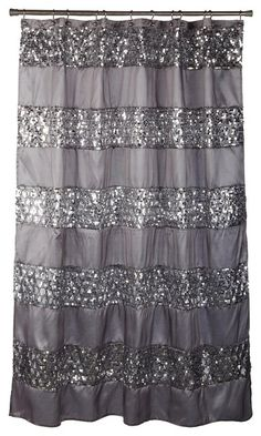 This shower curtain or something very similar that is girly & sparkly & either grey or black please!