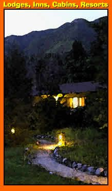 Directory list of Lodges, Inns, Resorts, Motels all places on the Pacific Coast Highway 1 for tourist visitors to stay near Big Sur California.