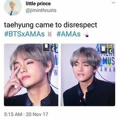 Taehyung came to disrespect AMA