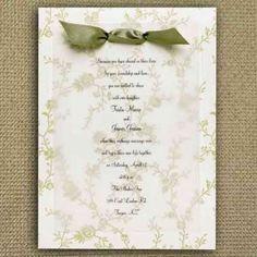 Invitaciones de boda caseras: fotos - Invitación de boda con dibujitos de flores…