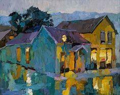Larisa Aukon.Rain by Larisa Aukon Oil ~ 24 x 30