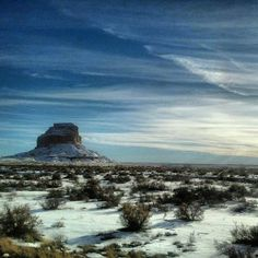 The first snow in the high desert of NM. Via Meanwhile in New Mexico on Facebook.