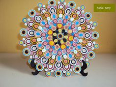 Mandala Decorativa by Quilling by Tania Nery, via Flickr