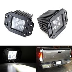 iJDMTOY (2) Dually Flush Mount 4D Optic Projector Lens CREE LED Pod Lights For Truck Jeep Off-Road ATV 4WD 4x4 As Search Lights, Fog Lights, Driving Lamps, Backup Reverse Lights, etc