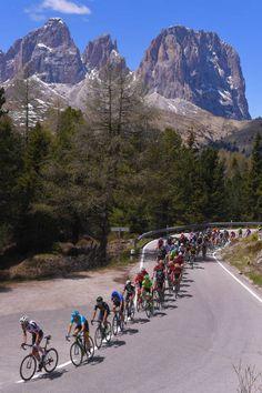 100th Tour of Italy 2017 / Stage 18 Landscape / Peloton / Passo Pordio 2239m/ Mountains / Moena Ortisei/St Ulrich 1219m / Giro /