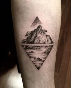 Fresh WTFDotworkTattoo Find Fresh from the Web #nature #boat #sea #mountain…