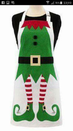 Bring your kitchen to life with these great holiday aprons for the cooks in the house. You could get Dad the Ritz Adult Santa Apron and Mom the Ritz Adult Elf Christmas Aprons, Christmas Sewing, Christmas Projects, Holiday Crafts, Holiday Fun, Christmas Holidays, Xmas, Christmas Ornaments, Christmas Makes