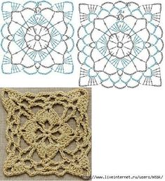 Transcendent Crochet a Solid Granny Square Ideas. Inconceivable Crochet a Solid Granny Square Ideas. Crochet Motif Patterns, Crochet Blocks, Granny Square Crochet Pattern, Crochet Diagram, Crochet Chart, Crochet Squares, Thread Crochet, Crochet Granny, Diy Crochet