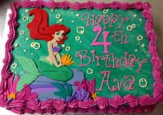 Ariel cake. Minus the pink frosting around (different color).