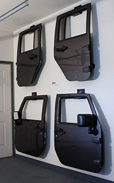 Jeep Wrangler Door Hanger Storage Rack Bracket Set Of 2 Hangers