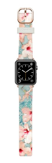 Casetify Apple Watch Band (42mm) Casetify 時計バンド - Painted Hibiscus Patchwork Pattern  by Micklyn Le Feuvre #Casetify
