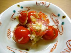 Super Easy Marinated Tomatoes and Myoga Ginger