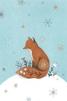 Happy Holidays 2015 fox by Nina Stajner happy holidays winterillustration Fuchs Illustration, Winter Illustration, Christmas Illustration, Cute Illustration, Woodland Creatures, Woodland Animals, Illustrator, Illustration Inspiration, Fox Art