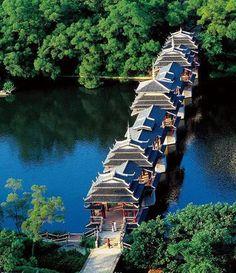 Chengyang Wind and Rain Bridge, Linxi River, Chengyang Village, China