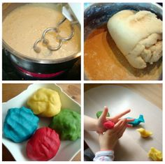 Soft clay is very easy to prepare. Source by Rabonzel Fun Crafts For Kids, Diy For Kids, Cool Kids, Activities For Kids, Diy And Crafts, Toddler Fun, Art Party, Baby Birthday, Hacks