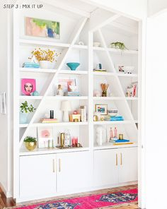 How To Style Your Shelves in 3 steps