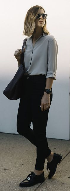 Take A I M Dark Neutrals Outfit Idea