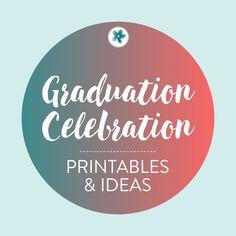 Let's celebrate a graduation! Whether it's high school, college, or preschool graduation, we got you covered here! #GraduationPrintables #GraduationCelebration