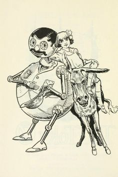"Illustration by John R. Neill, ""Tick-tock of Oz"""