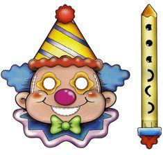 Maestra de Infantil: Payasos. Caretas para imprimir. Dibujos para colorear. Printable Masks, Free Printables, Little Engine That Could, Clown Party, Send In The Clowns, Circus Clown, Mask For Kids, Paper Dolls, Princess Peach