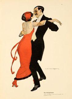 Marcello Dudovich  Vintage dance Poster