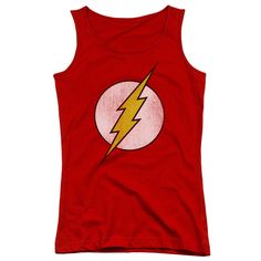 The Flash Distressed Logo Juniors Tank Top