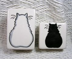 White And Black Cats Salt & Pepper Shakers by GoodNiteGracie