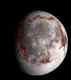 Painovoimamittaukset paljastivat jättilaisrakenteen Kuun pinnalla.