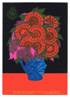 pizzzatime:  like-a-steam-locomotive:  Victor Moscoso. Blue Cheer 1967. Offset Lithograph, 20 X 14