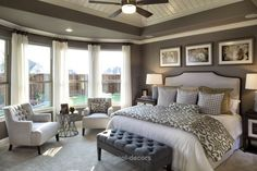 90 Comfortable Master Bedroom Decor Models For Your Home 5 ~ Top Home Design Master Room, Master Bedroom Design, Dream Bedroom, Home Bedroom, Bedroom Ideas, Bedroom Designs, Master Bathroom, Master Bedroom Chairs, Master Bedroom Furniture Ideas